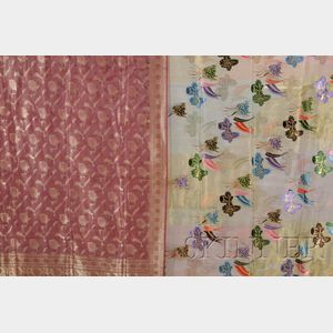 Two Decorated Saris