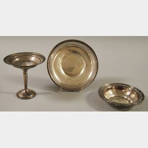 Three Sterling Silver Tableware Articles