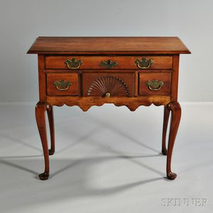 Carved Cherry Dressing Table