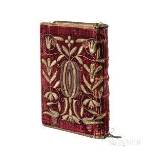 Missale Romanum, ex Decreto Sacrosancti Concilij Tridentini Restitutum  , in an Embroidered Velvet Binding.