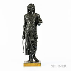Emile Louis Picault (French, 1839-1915)       Bronze Figure of the Pharaoh's Gift
