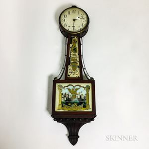 "Bigelow, Kennard & Co. Reverse-painted Mahogany ""Patent"" Timepiece"