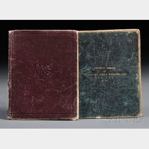 Beresford, Sir John Poo, (1766-1844) Two Manuscript Notebooks, c. 1895.