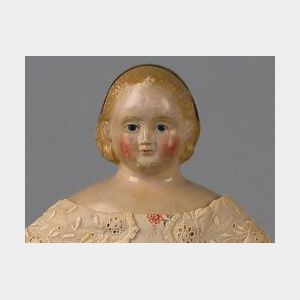 Lerch and Klag Papier-mache Shoulder Head Doll