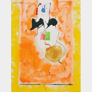 Helen Frankenthaler (American, 1928-2011)      Solar Imp