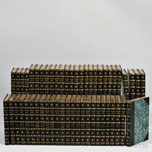 Decorative Bindings, Fifty-two Volumes, William Makepeace Thackeray (1811-1863) The Works.