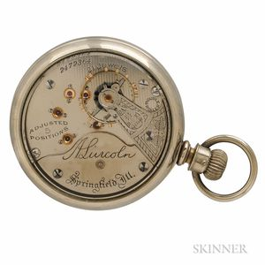 """Illinois """"A. Lincoln"""" Open-face Watch"""