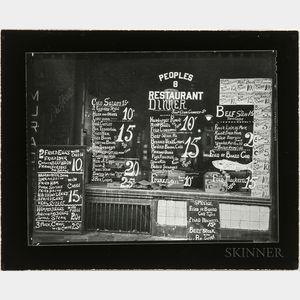 Walker Evans (American, 1903-1975)       Bowery Lunchroom, New York