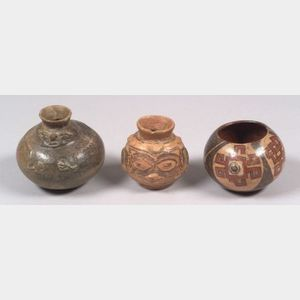 Three Pre-Columbian Pottery Vessels