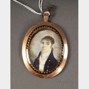 Anglo-American Portrait Miniature of a Young Man