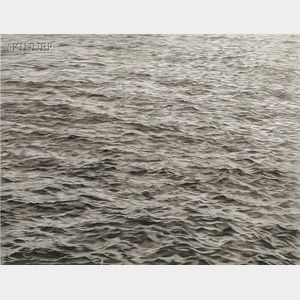 Vija Celmins (Latvian/American, b. 1939)      Ocean with Cross #1