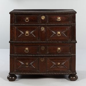 Carved Oak Chest of Drawers