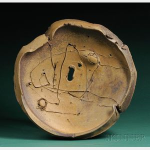 Sold for: $10,665 - Peter Voulkos Ceramic Charger