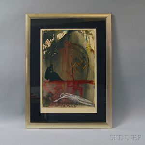 Attributed to Salvador Dalí (Spanish, 1904-1989)      Arise, Barak