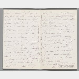 Custer, Elizabeth Bacon (1842-1933) Autograph Letter Signed, Fragment.