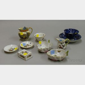 Ten Pieces of Porcelain Tableware