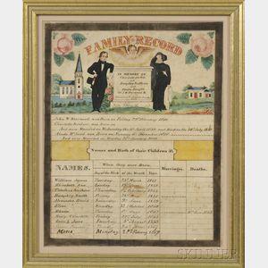 Framed Family Record