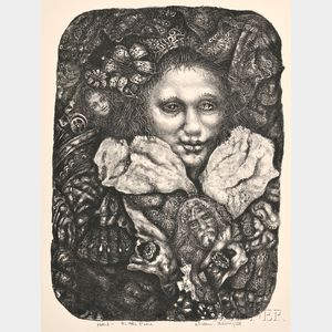 Ivan Le Lorraine Albright (American, 1897-1983)      Hail to The Pure (Portrait of Maria Piedra)