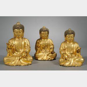 Sold for: $23,700 - Giltwood Amida Triad