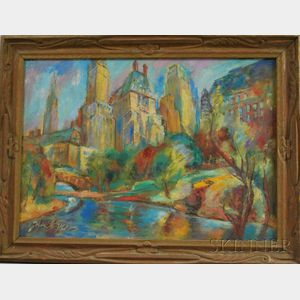 John Shayn (American, 1901-1977)      Central Park