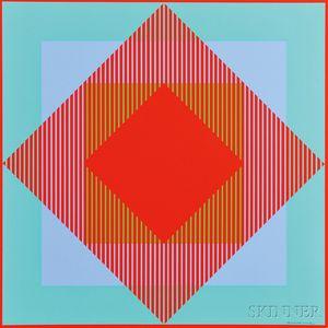 Richard Anuszkiewicz (American, b. 1930)      6 SERITYPIEN / A Portfolio of Six Works