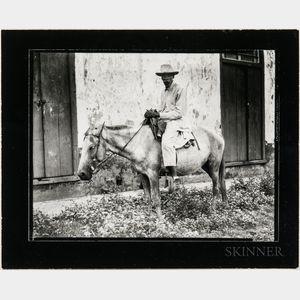 Walker Evans (American, 1903-1975)       Man on Donkey, Cuba