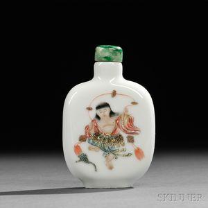 Famille Rose Porcelain Snuff Bottle