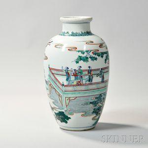Sold for: $30,750 - Enameled Porcelain Jar