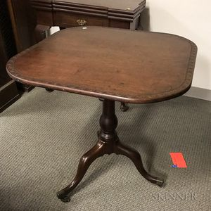 Edwardian-style Mahogany Tilt-top Tea Table