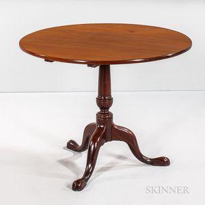 Circular Mahogany Tilt-top Tea Table