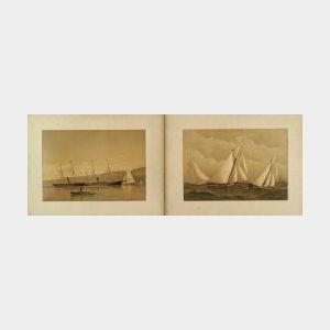 Frederic S. Cozzens (American, 19th Century) Charles Scribners Sons, New York, 1884 AMERICAN YACHTS, A Portfolio of Twenty-four Marine