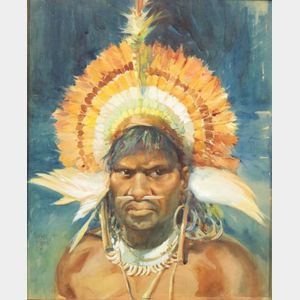 Framed Original Watercolor by Walter Jardine