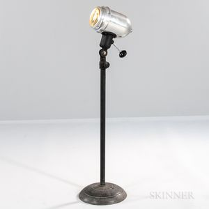 M. Brandt & Sons Adjustable Height Industrial Floor Lamp