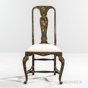 Polychrome Painted Side Chair