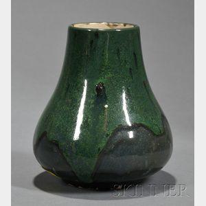 Dedham Pottery Volcanic Glaze Vase