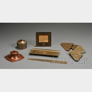 Eight Roycroft Desk Items