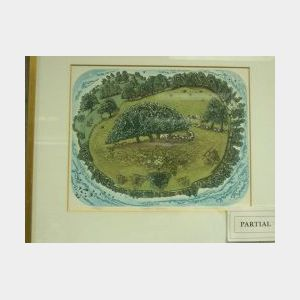 Two Framed Landscape Prints Including: Suffolk Meadow