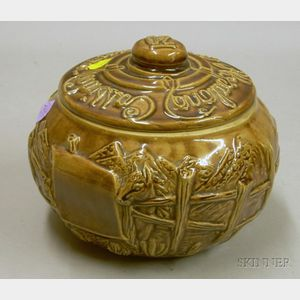Hopalong Cassidy Cookie Corral Glazed Ceramic Cookie Jar.