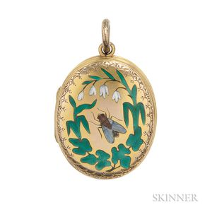 Antique Gold and Enamel Locket
