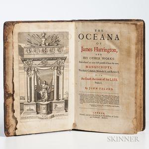 Harrington, James (1611-1677) The Oceana of James Harrington, and his Other Works.