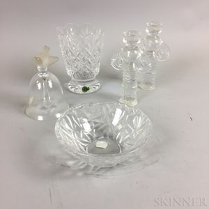 Five Pieces of Colorless Glass