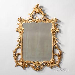 Rococo Revival Carved Giltwood Mirror