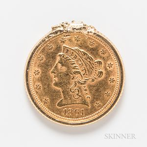 1861 $2.50 Liberty Head Gold Coin