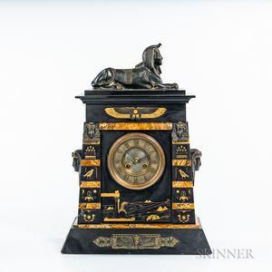 Egyptian Revival Mantel Clock