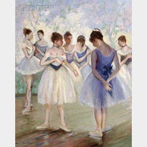 Allan Albert Davidson (American, 1908-1988)      Corps de Ballet-Back Stage