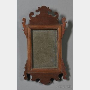 Miniature Chippendale-style Mahogany Mirror