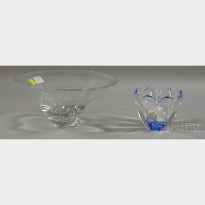 Two Decorative Glass Bowls