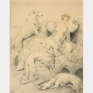 Louis Icart (French, 1888-1950)      Blancheurs