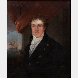 School of John Singleton Copley (American, 1737-1815), Josiah Shackford, Commissioned Lieutenant of the Frigate Raleigh, July 1776, Uns