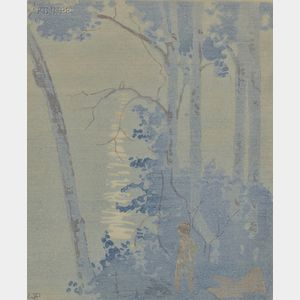 Walter Joseph Phillips (Canadian, 1884-1963)      Moonlight, Lake of the Woods